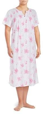 Carole Hochman Plus Floral Cotton Gown