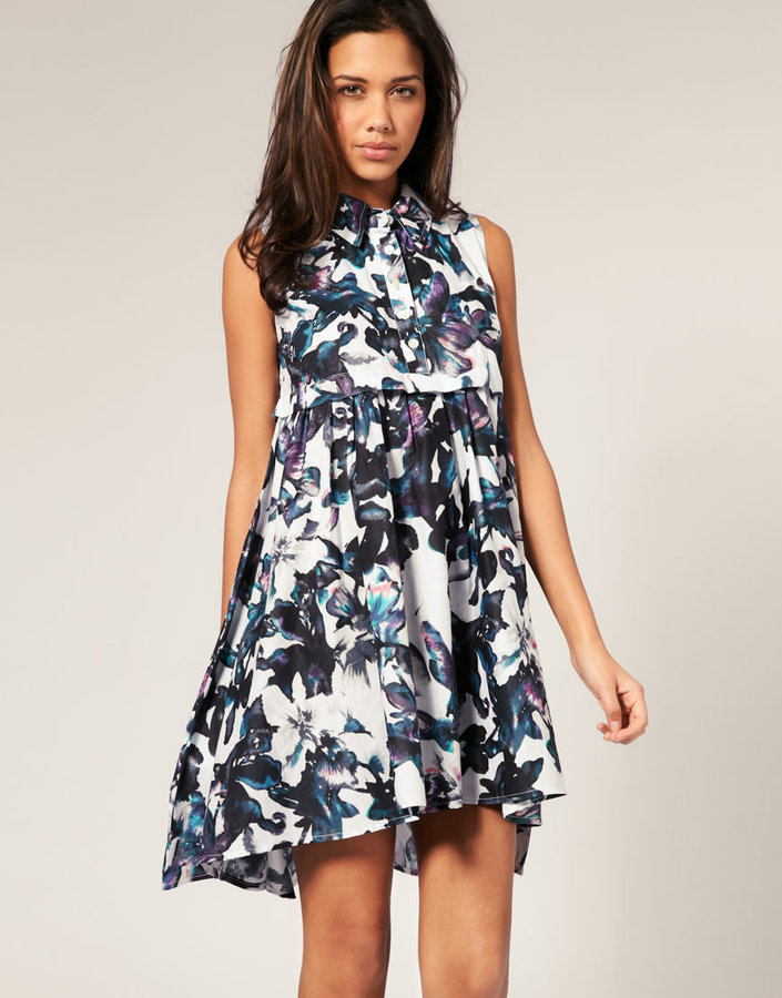 ASOS Watercolour Lilly Swing Dress