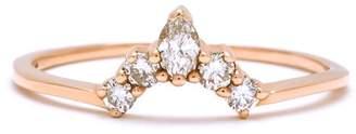 Anna Sheffield Petit Marquise Diamond Tiara Ring - Yellow Gold