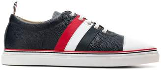 Thom Browne Striped Straight Toe Cap Leather Trainer