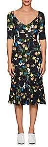 Erdem Women's Glenys Floral Jersey Dress - Black Multi