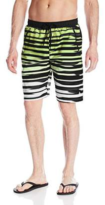 RBX Men's Microfiber Zipper Pocket Hybrid Swim Shorts