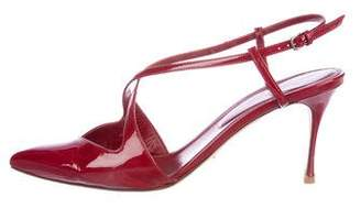 Sergio Rossi Patent Leather Slingback Pumps