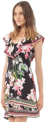 Hale Bob Ameera Ruffle Jersey Dress