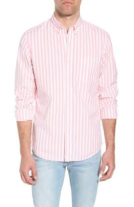 J.Crew J. CREW Slim Fit Stretch Secret Wash Stripe Sport Shirt