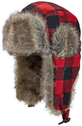 Woolrich Mens Plaid Trapper Hat