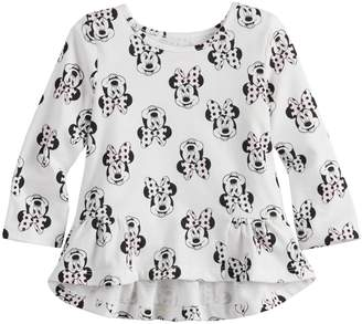 Osh Kosh Disneyjumping Beans Disney's Minnie Mouse Baby Girl High-Low Print Tee by Jumping Beans