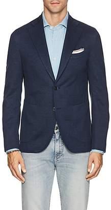 Barneys New York Men's Linen-Cotton Piqué Two-Button Sportcoat - Md. Blue
