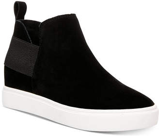 6cc56f6c004 Steve Madden Black Wedge Sneakers - ShopStyle