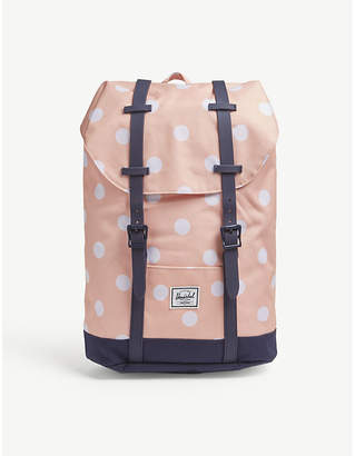 Herschel Youth Retreat polka-cot canvas backpack