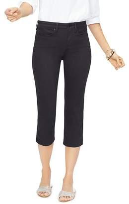 NYDJ Vented Capri Jeans in Black
