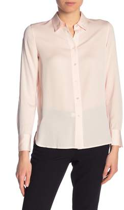 Vince Slim Fitted Silk Blend Blouse