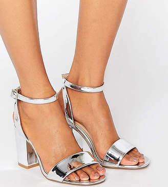 e7087f4144c Asos Design HERON Wide Fit Heeled Sandals