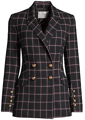 Rebecca Vallance Women's Peta Plaid Double-Breasted Jacket - Size 0