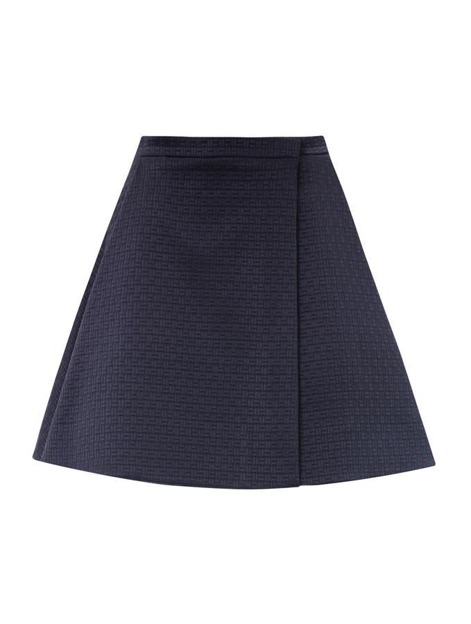 Kenzo Checked jacquard A-line skirt