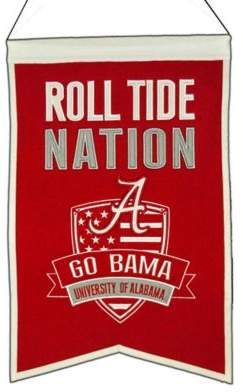 "NCAA University of Alabama ""Crimson Tide Nation"" Banner"
