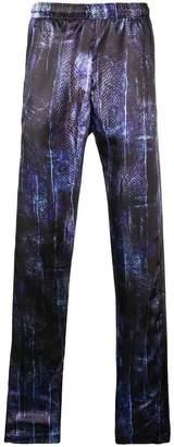 Cottweiler snakeskin print track pants