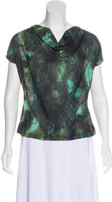 Kenneth Cole Printed Short Sleeve Top