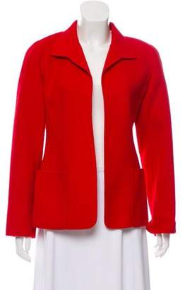 Ellen Tracy Linda Allard Wool Open-Front Jacket