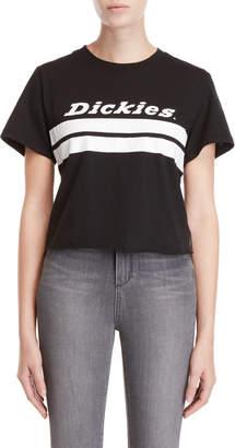 Dickies Cropped Logo Stripe Print Tee