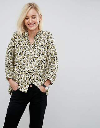 Asos DESIGN Oversized Shirt in Abstract Animal