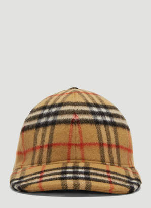 93a3c39e82bef Burberry Classic Check Wool Cap in Brown