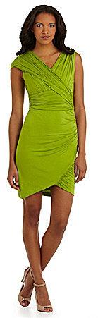NV Nick Verreos Asymmetric-Drape Dress