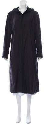 Issey Miyake 132 5. Hooded Long Coat Black 132 5. Hooded Long Coat