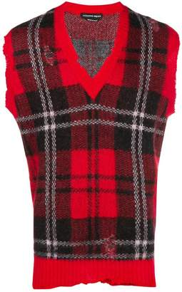 Alexander McQueen sleeveless tartan sweater