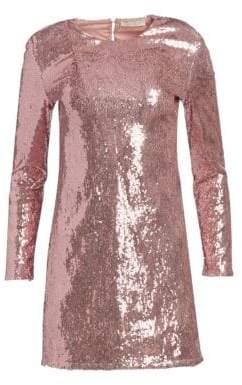 Amen Sequin Cutout Mini Dress