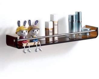 Fab Glass and Mirror Stylish Bathroom Glass Shelf with Chrome Towel Bar