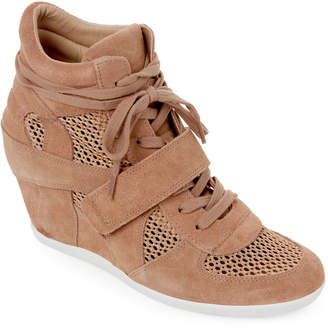 Ash Bisque Bowie Suede & Mesh Wedge Sneakers