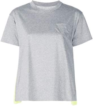 Sacai contrast T-shirt
