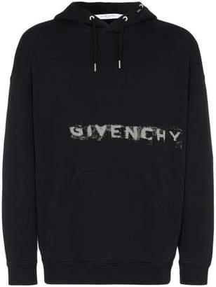 Givenchy faded logo cotton hoodie