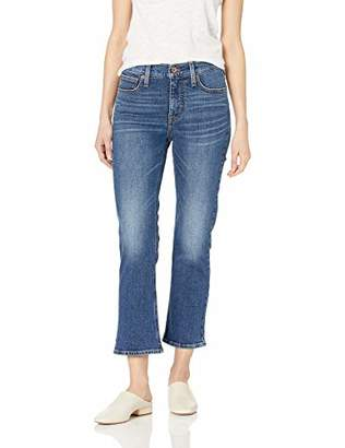 """J.Crew Mercantile Women's 9"""" High-Rise Cropped Flare Jean"""
