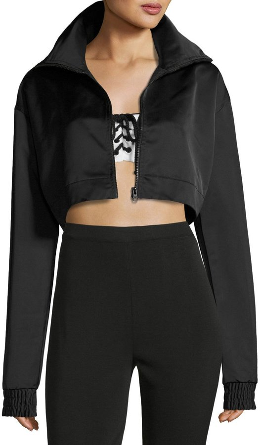 Fenty Puma by Rihanna Cropped EZ Track Jacket, Black