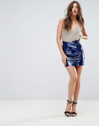 Asos DESIGN Sequin Mini Skirt