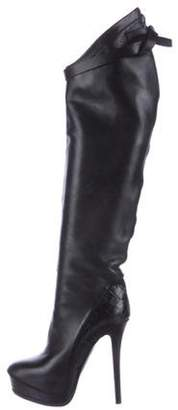Haider Ackermann Leather Over-The-Knee Boots Black Leather Over-The-Knee Boots