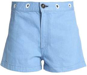 Rag & Bone Eyelet-Emebllished Denim Shorts