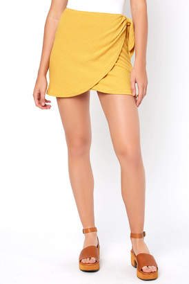 Sage The Label Wrap Mini Skirt