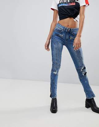 Tommy Hilfiger Gigi Hadid High Waist Distressed Jeans