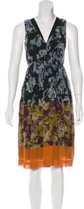 Etro Sleeveless Abstract Print Dress