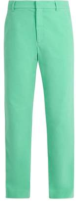 Sies Marjan - Straight Leg Cotton Corduroy Trousers - Mens - Mint