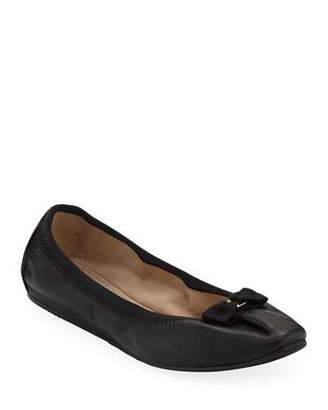 Salvatore Ferragamo My Joy Leather Slip-On Ballet Flats
