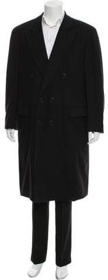 Façonnable Woven Button-Up Coat