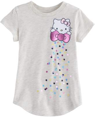 Hello Kitty Toddler Girl Jumping Beans Shiny Bow Graphic Tee