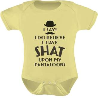 Tstars TeeStars - I Do Believe I Have Shat Upon My Pantaloons Funny gentleman Baby Onesie 12M