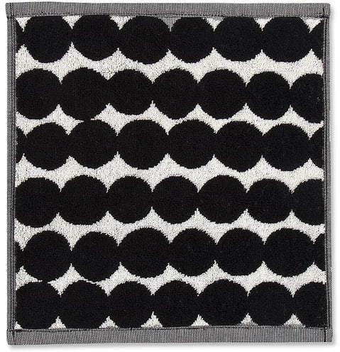 Räsymatto Mini-Handtuch 25 x 25 cm, Schwarz