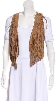 Torn By Ronny Kobo Fringe Sleeveless Vest
