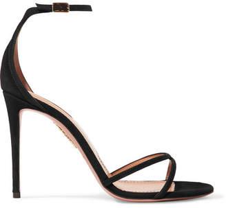 Aquazzura Purist Suede Sandals - Black